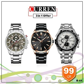 Curren Watch 3 in 1 offer, Style 3
