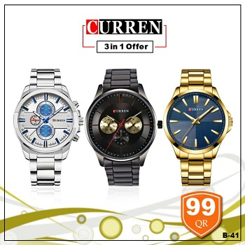 Curren Watch 3 in 1 offer, Style 4