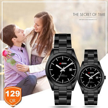 KDM Analogue couple watches, Style 2