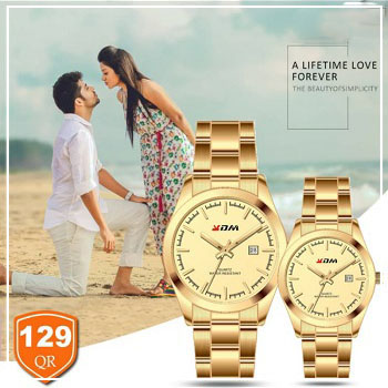 KDM Analogue couple watches, Style 3