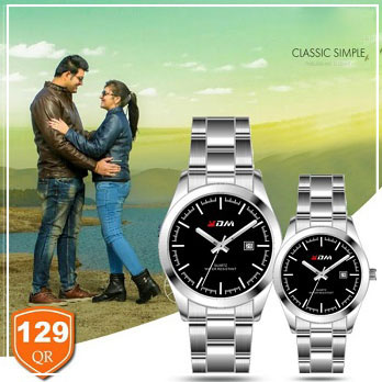 KDM Analogue couple watches, Style 5