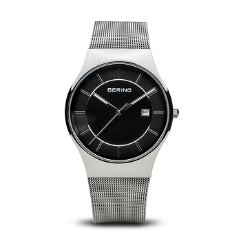 Classic Polished Silver Men's Watch 11938-002