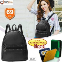Ladies Backpack With Two Card Wallet Free