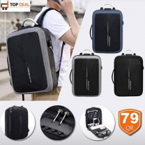 Mochilas Casual Style Backpack for Men, Black