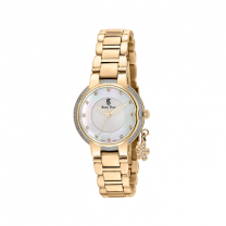 Swiss Time White Color Dial Crystal Quartz Women's Watch