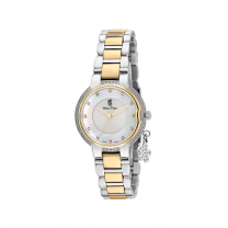 Swiss Time Silver With Gold Ladies Watch