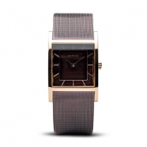 Classic Rose Gold Plated Brown Dial Quartz Watch
