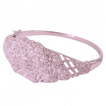 Bangle White Gold Plated With Zircon Stone 1