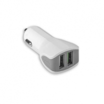 Celly Turbo Car Charger 2 USB 3.4A, White