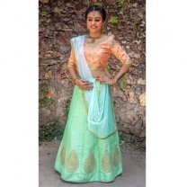 Art Silk Embroidery Girls Unstitched Lehenga Choli-476ST94E59B16