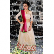 Art Silk Embroidery Girls Unstitched Lehenga Choli-476STAA0023C6