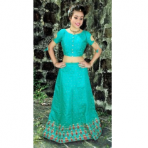 Art Silk Embroidery Girls Unstitched Lehenga Choli-476ST3B35E85A