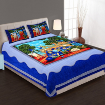 WCL - Cotton Printed Double Bedsheet With Pillow Covers-I34JPCEEEDDB2