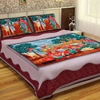 WCL - Cotton Printed Double Bedsheet With Pillow Covers-I34JP9B86FF9C