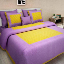 Saba - Cotton Printed Double Bedsheet With Pillow Cover-U09JP04AA4412