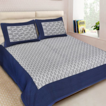 Naomi - Cotton Printed Double Bedsheet With Pillow Cover-Z54JP58359E24