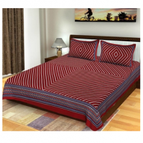 Naomi - Cotton Printed Double Bedsheet With Pillow Cover-Z54JPD441C806