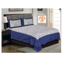 Naomi - Cotton Printed Double Bedsheet With Pillow Cover-Z54JP1776F534