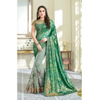 Net Lycra Traditional Saree With Blouse-017STC49A9DA9