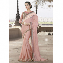 Silk Georgette Saree With Blouse-017STB24A290E