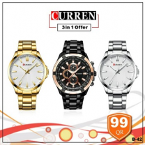 Curren Watch 3 in 1 offer, Style 5
