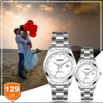 KDM Analogue couple watches, Style 4