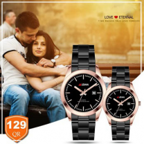 KDM Analogue couple watches, Style 6