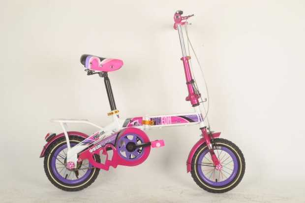 Pigeon 12 Folding Pink Colour Bicycle