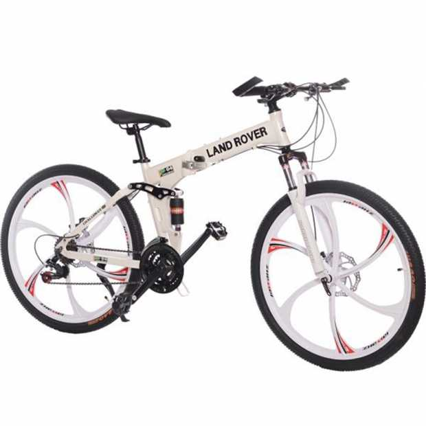Land Rover Alloy 26 Inch Bicycle, White